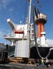 Hose venting diesel ship engine exhaust gas fumes